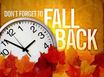 Set Those Clocks Back November 3rd