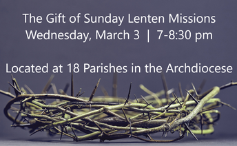 The Gift of Sunday Lenten Missions at area Parishes