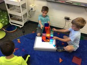 Working together to build on our light table.