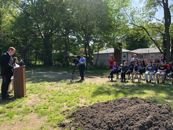 Groundbreaking Ceremony for our Birchwood Greenhouse Classroom