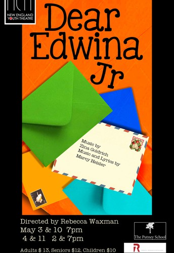 "This week NEYT opens its Spring Musical, ""Dear Edwina, JR"""