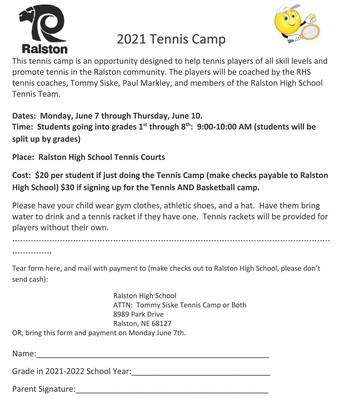 RHS Tennis Camp