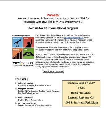 504 Parent Training