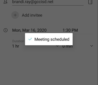 Meeting will be scheduled