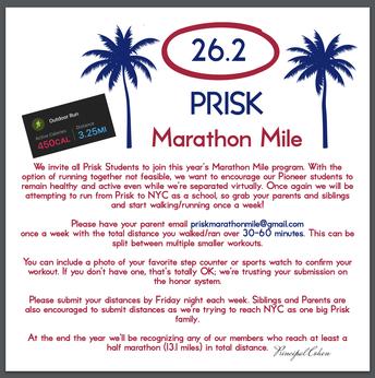 Marathon Mile Club Info