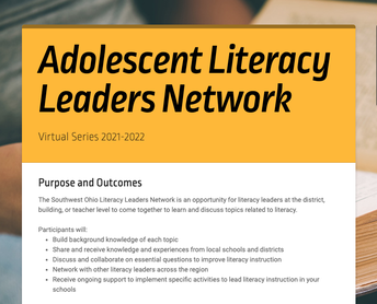 Adolescent Literacy Leaders Network