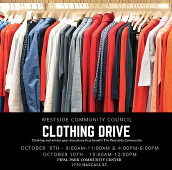 Westside Community Council Clothing Drive