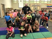 Mr. CP, our guest Poetry Performer, was loved by the grade!
