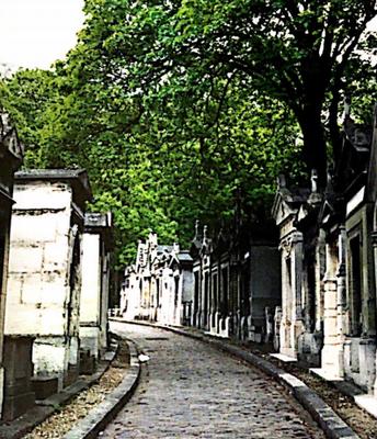A Street at Père Lachaise