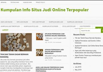 Kumpulan Info Situs Judi Online dan Agen Judi Terpopuler