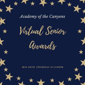 Virtual Senior Awards on May 20th at 6:00pm