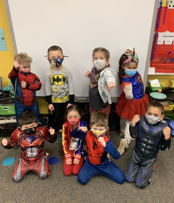 Students from Mrs. Leighton's KDG Class