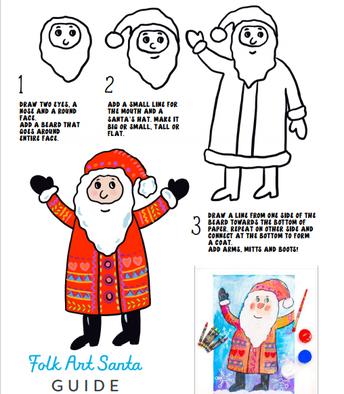 Draw a Folk Art Santa!
