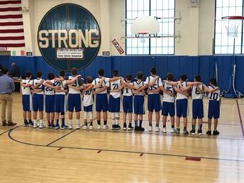 Final boys' basketball game at Strong