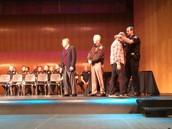 Tristan receiving his medal!