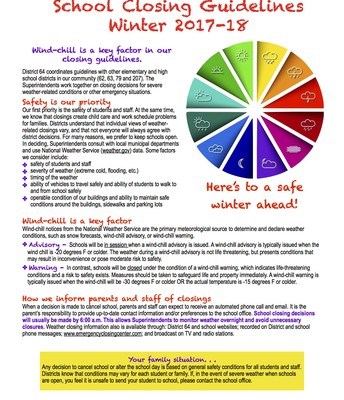 2017-18 School Closing Guidelines Flyer