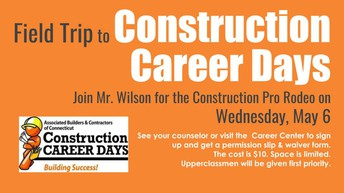 Career Construction Days Field Trip 5/6