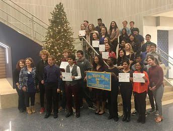 Celebrating students @ the Mu Alpha Theta Math Honors Society Induction