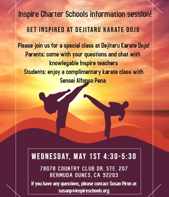 Inspire Info Session at Dejitaru Karate Dojo!