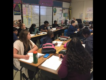 Teaching and learning on the the last week in Ms. Juronoc's class