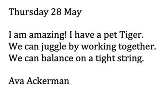 Ava Ackerman - Clown writing (Published)
