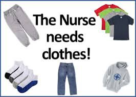 Looking for Clothes for the Nurse's Office