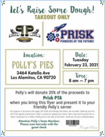 Tuesday, February 23rd: Polly's Pies Dinner Night!
