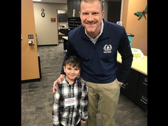 Jordan B was principal for the day!