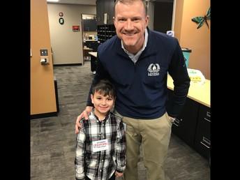 Jordan B was principal for the day!