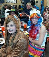 Makenna Hunter and Kara Svarny at our Halloween party.