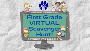 1st GRADE Virtual Scavenger Hunt!