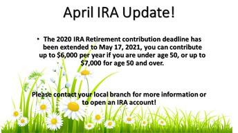 April IRA Update