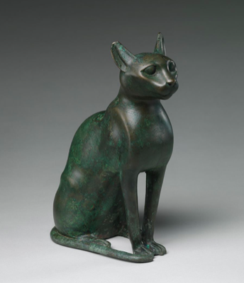 Cat Statuette Intended to Contain a Mummified Cat