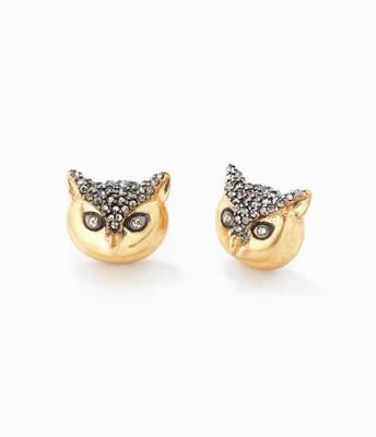 Pavé Owl Studs