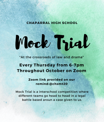 Mock Trial - October Schedule