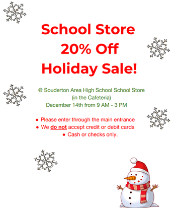 School Store HOLIDAY Sale