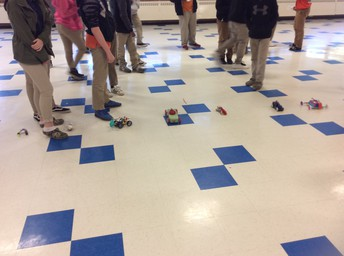 Students learn about different forces