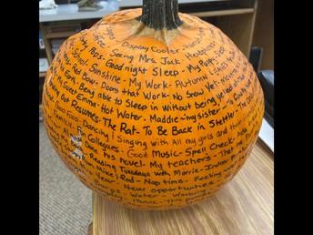Grateful Pumpkin at Stettler Outreach School