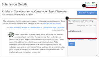 Canvas: Discussion Board Peer Review
