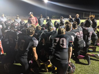 Football ends their season against the Las Lomas Knights in the Battle of the Creek