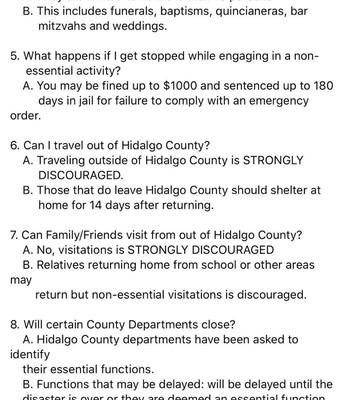 Hidalgo County Sheriff's Office FAQ's