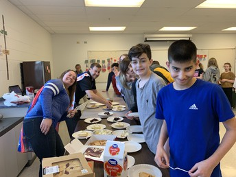 7th Grade Celebrates Pi Day with PIE