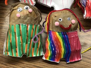 Kindergarten Art - Potato Pants!
