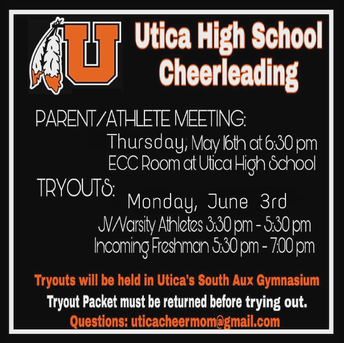 Utica High School Cheerleading Parent Meeting & Tryouts