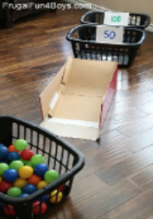 Laundry Basket Skee Ball