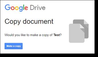 Force Copy a Google app File