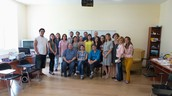With trainees in Tblisi