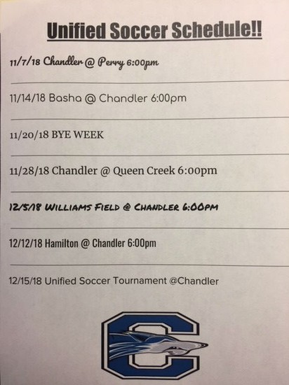 Unified Soccer Schedule