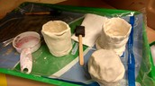 Will's pottery in progress