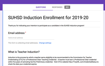 Enroll in SUHSD Induction